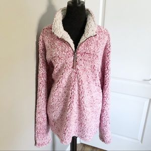 True Grit Pink Sherpa Pullover Like New
